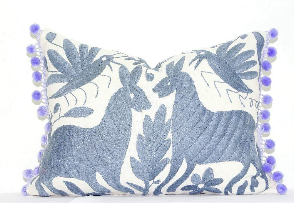 otomi pillow cover mexican embroidered cushion cover bohemian decor mexfabricsupplies