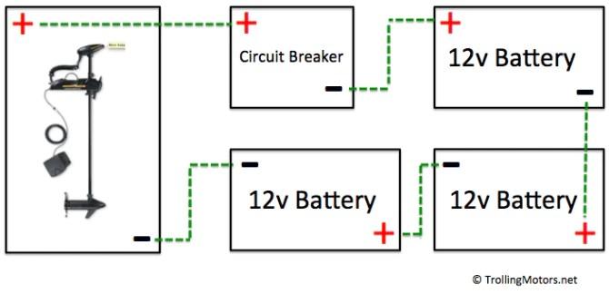 24 and 36volt wiring diagrams – trollingmotors