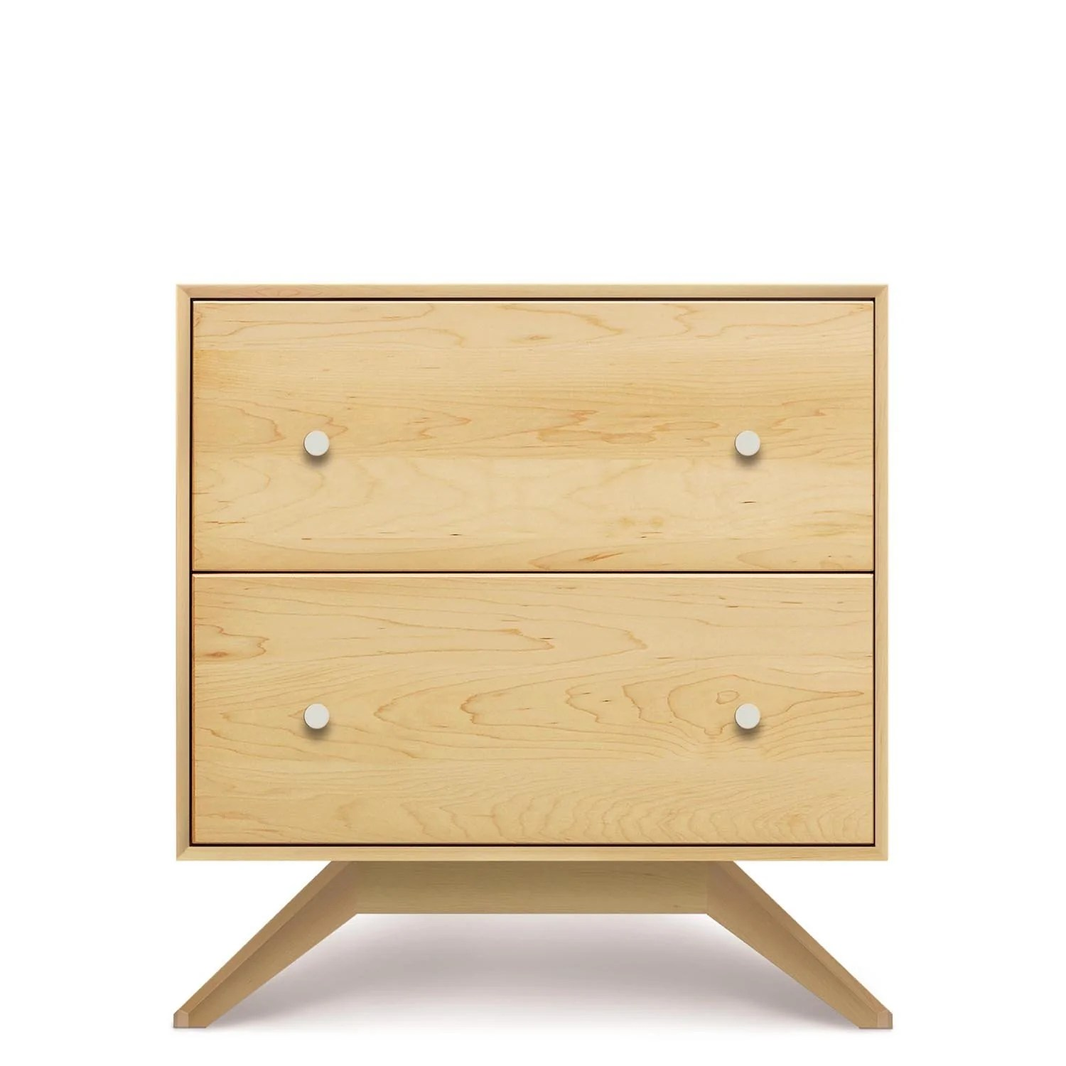 Astrid Two Drawer Nightstand In Maple