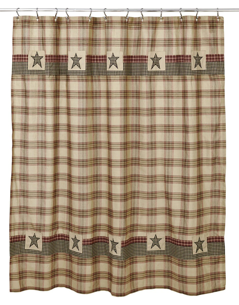 Plymouth Shower Curtain Country Primitive Olivia S Heartland Dl Country Barn