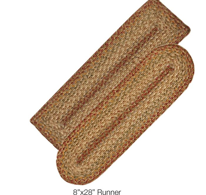 Harvest Jute Braided Stair Treads Or Table Runner – Dl Country Barn   Stair Treads And Runners   Flooring   Hardwood   Staircase   Bullnose Carpet Runners   Treads Carpet