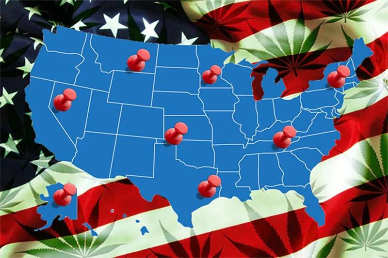 Cannabis Multi State Operators US Map