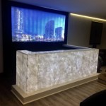Lighting Onyx Marble Walls And Countertops Using Led Lighting