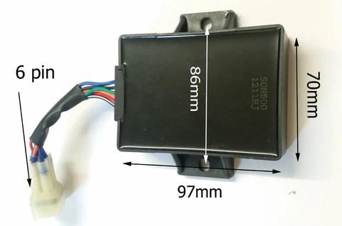 CDI22 CDI UNIT 6 PIN BOX 6 WIRE FOR 200CC  250CC  300CC
