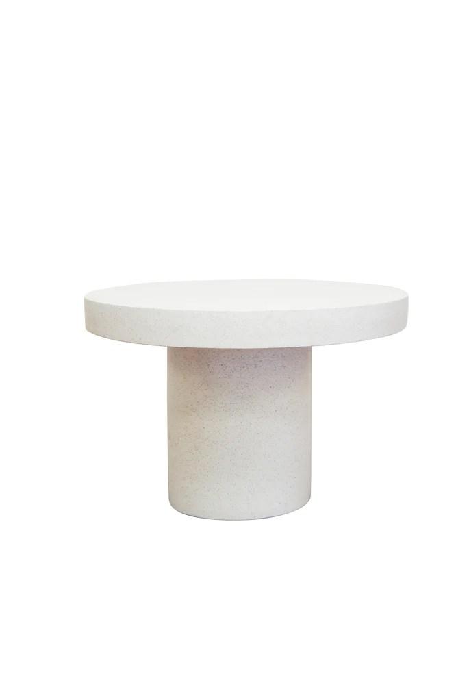 contempo round terrazzo dining table white