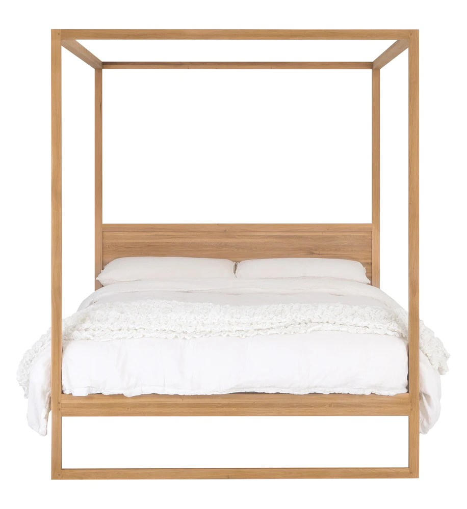 strand 4 poster bed oak king