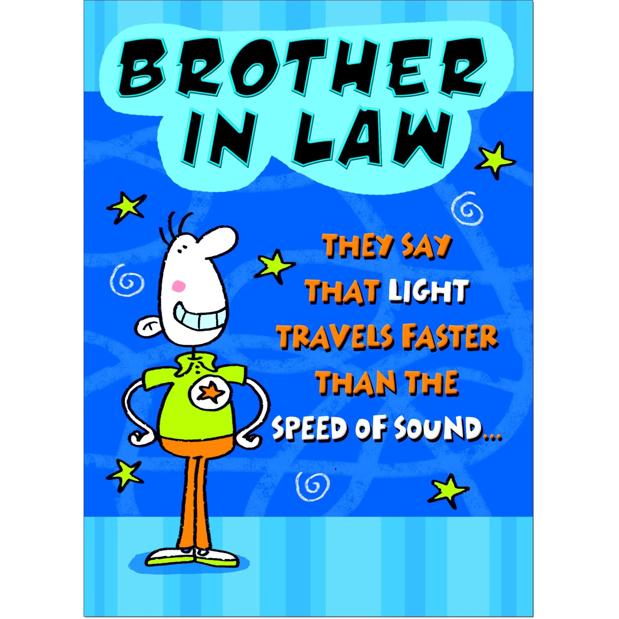 Doodlecards Funny Brother In Law Birthday Card Medium Doodlecards