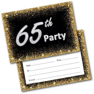 65th birthday party invitations age 65 male mens female womens pack 20 invites