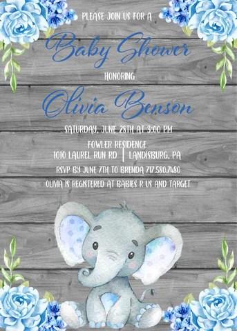 Elephant Themed Baby Shower Ideas