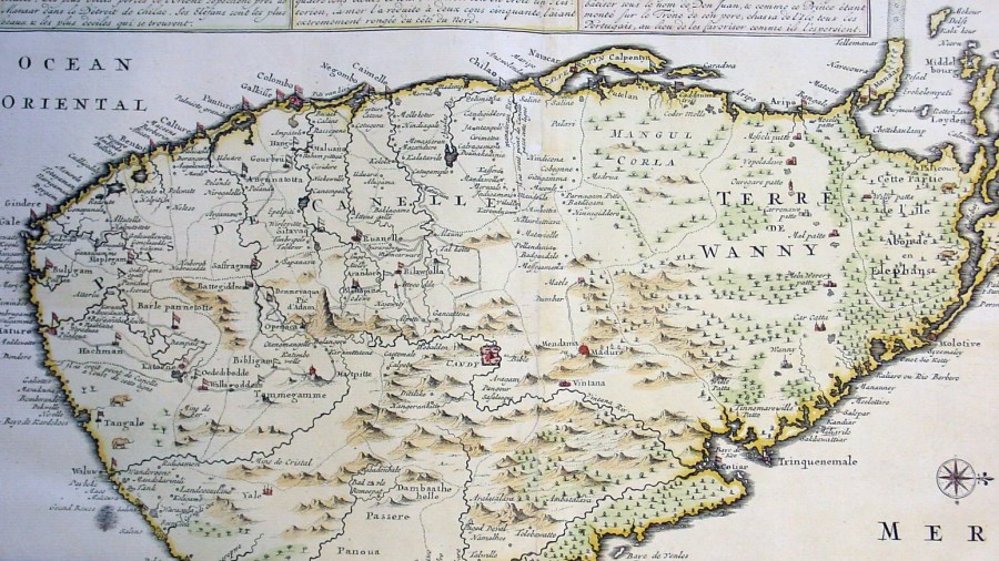1719 Chatelian Antique Map of Ceylon Sril Lanka     Classical Images 1719 Chatelian Antique Map of Ceylon Sril Lanka
