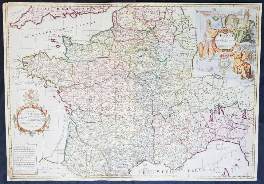 1720 Senex Very Large Antique Map of France in Provinces     Classical     1720 Senex Very Large Antique Map of France in Provinces