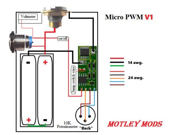 BOX MOD WIRING DIAGRAMS – Motley Mods llc