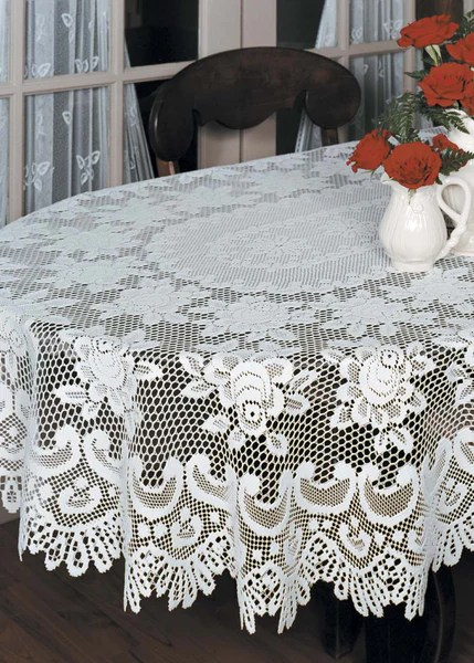 Rose Lace 60 X 108 Tablecloths By Heritage Lace Pine Hill Collections