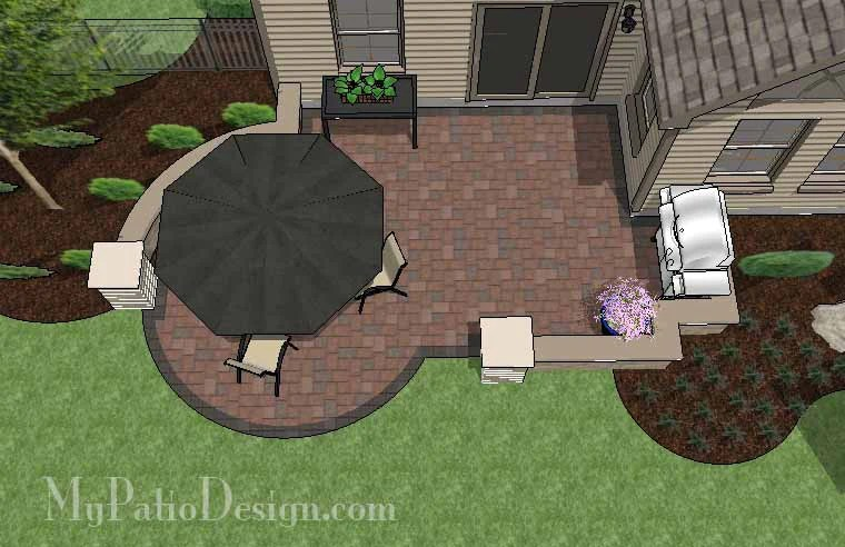285 sq ft diy budget friendly patio design with seat wall