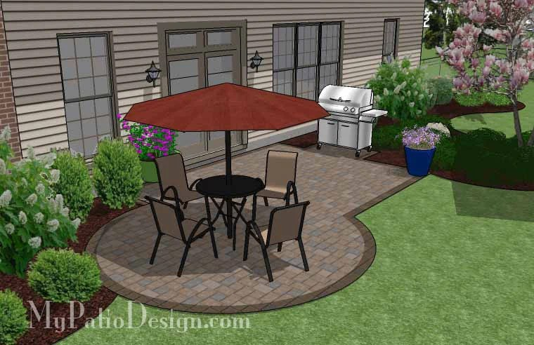 295 sq ft small patio design on a budget