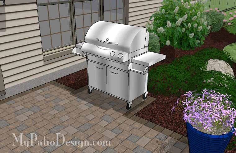 290 sq ft small patio design on a budget with seat wall