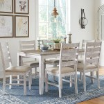 Skempton Dining Room Table And Chairs Set Of 7 Jennifer Furniture