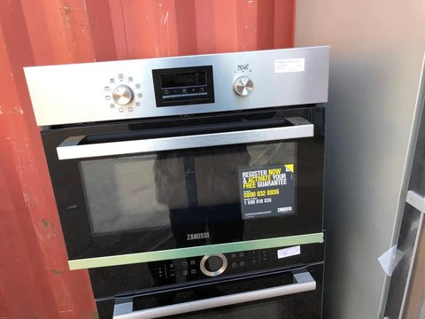 zanussi zkk47901xk built in compact combination microwave stainless steel