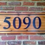 Cedar Custom House Number The Carving Company