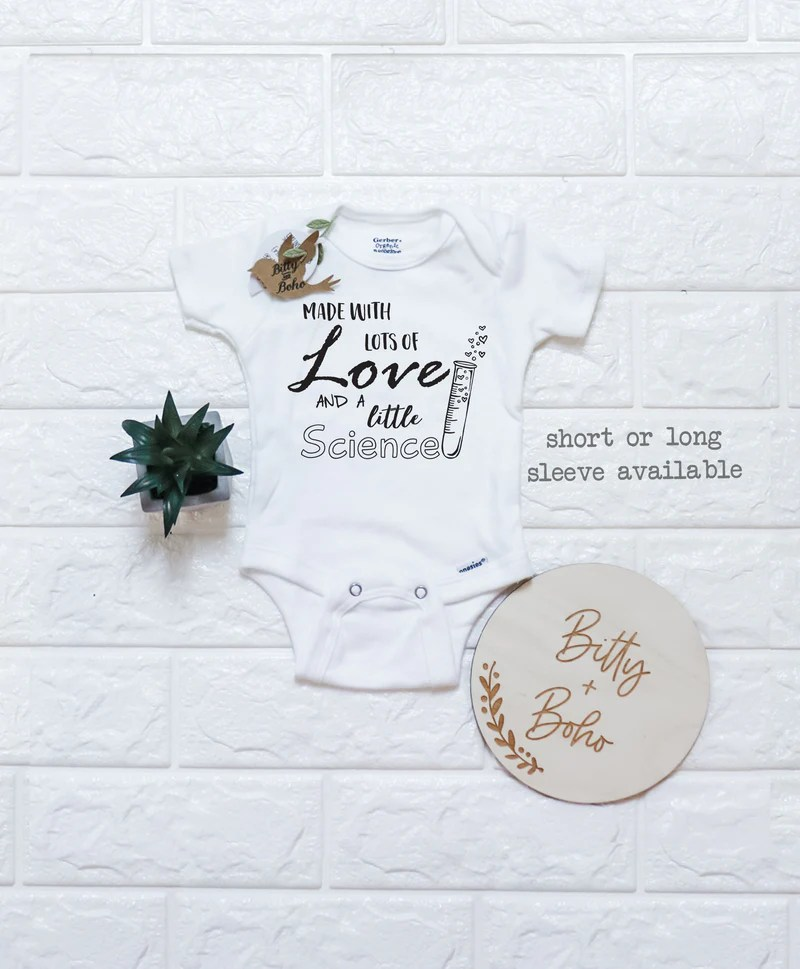 Download Made with Lots of Love and a Little Science - IVF Onesie ...