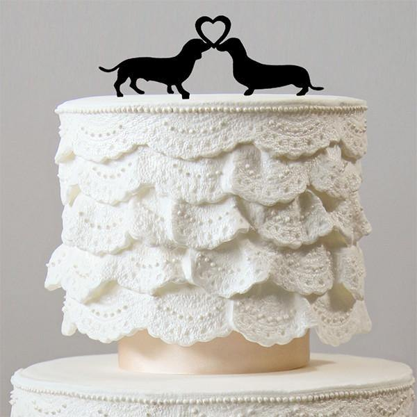 Dog Wedding Cake Topper  Lovely Pets  Engagement  Bridal Shower     Dog Wedding Cake Topper  Lovely Pets  Engagement  Bridal Shower Party
