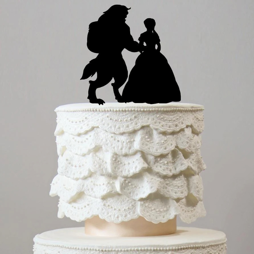 wedding cake toppers  raquo  Beauty And The Beast Wedding Cake Toppers  Fairytale  Princess Theme     Beauty And The Beast Wedding Cake Toppers  Fairytale  Princess Theme