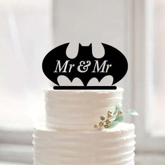 Two Grooms Wedding Cake Topper
