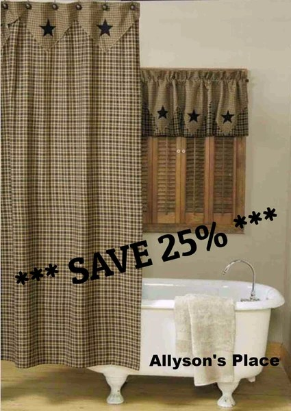 shower curtain and window treatments