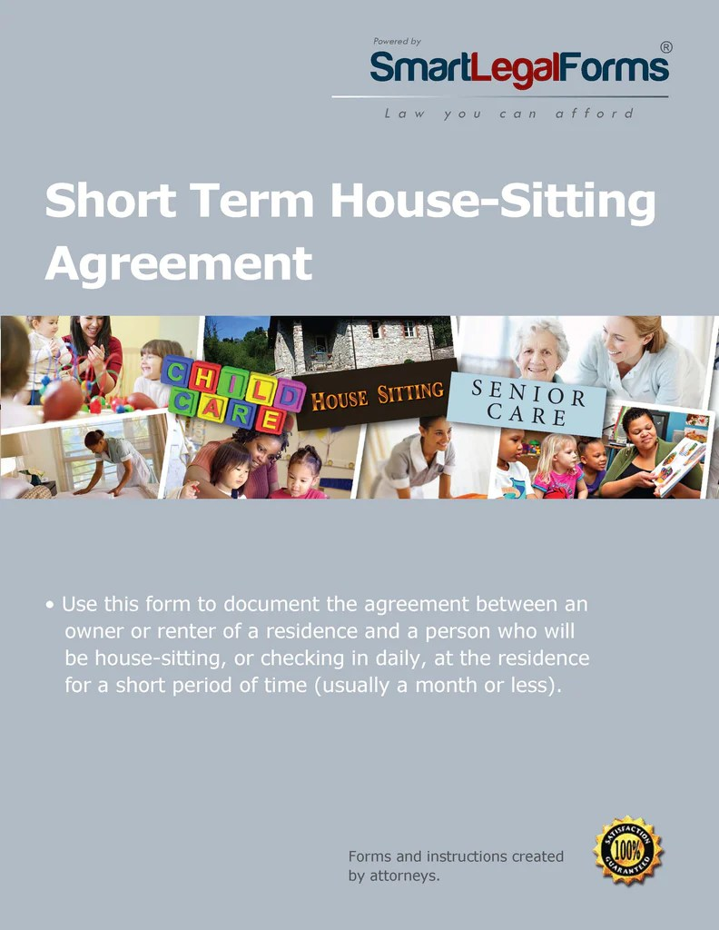 Short Term House Sitting Agreement
