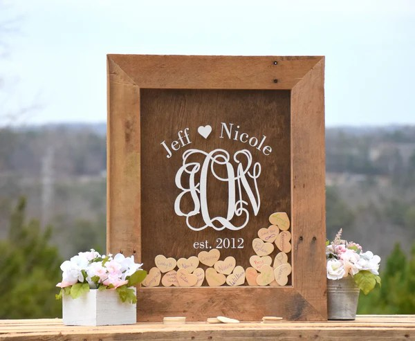 Wedding Guest Book Alternative Heart Drop Guest Book