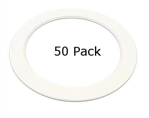 plastic white light trim ring recessed can 6