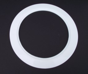 Plastic White Light Trim Ring Recessed Can 6 Inch Over Size Oversized Jsp Manufacturing