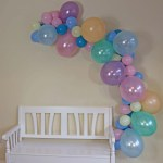 Pretty In Pastel Balloon Garland Light Blue Light Pink Lilac Mint The Party Postman