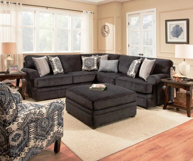macy sectional navy