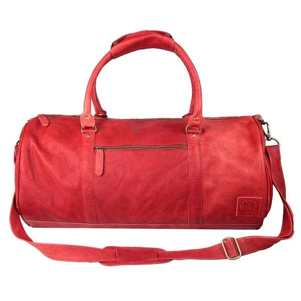 Red Dyed Leather Duffle