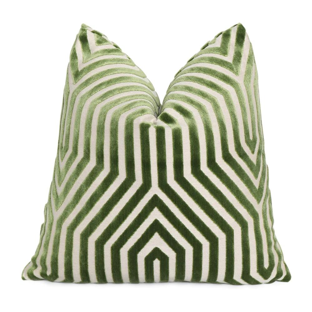 olive green velvet cushion online