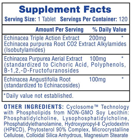 Echinacea Supplement Facts