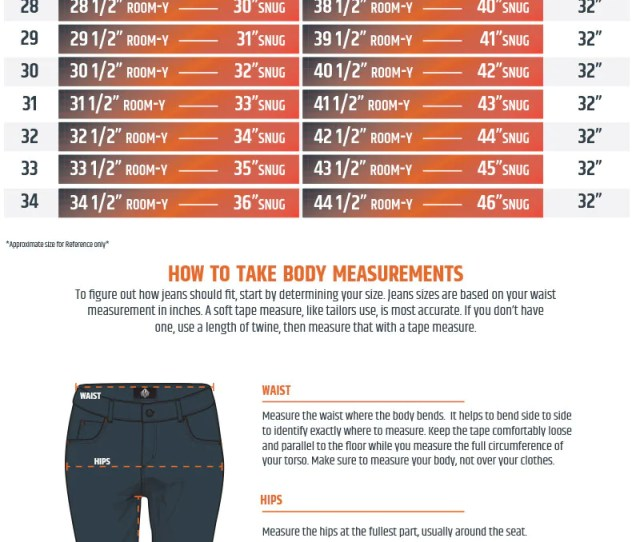 Womens Jeans Sizing Guide