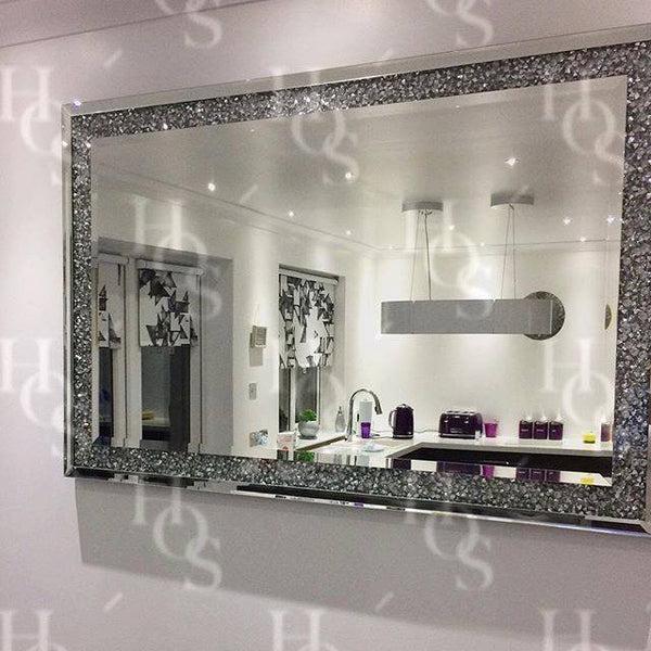 Diamond Crush Wall Mirror House Of Sparkles