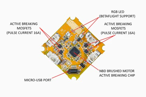 BeeBrain Lite Flight Controller  Camera Set – Tiny Whoop