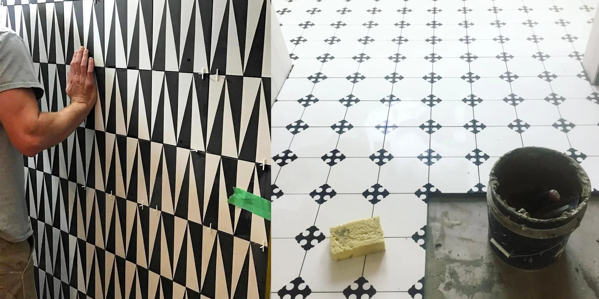 perfect cement tile installation