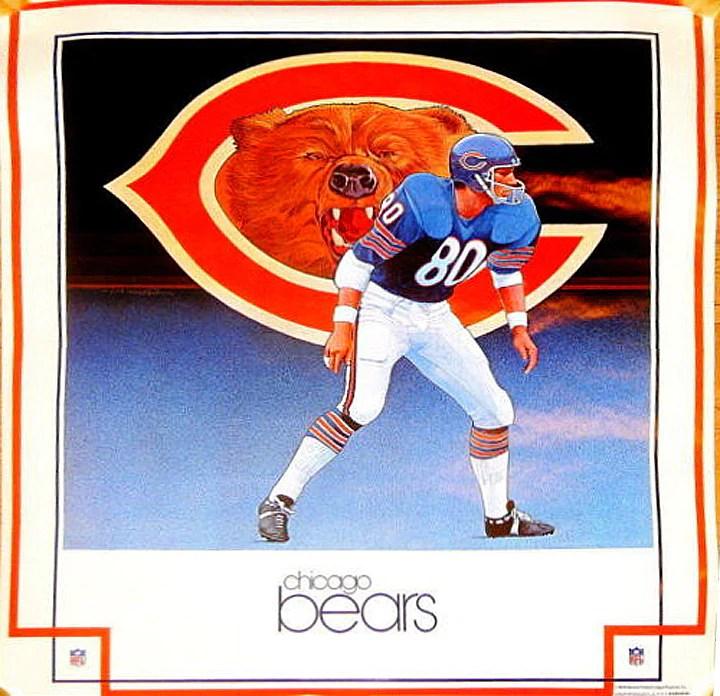 nfl vintage damac chicago bear s 1979 poster