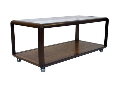 G-Plan glass top coffee table
