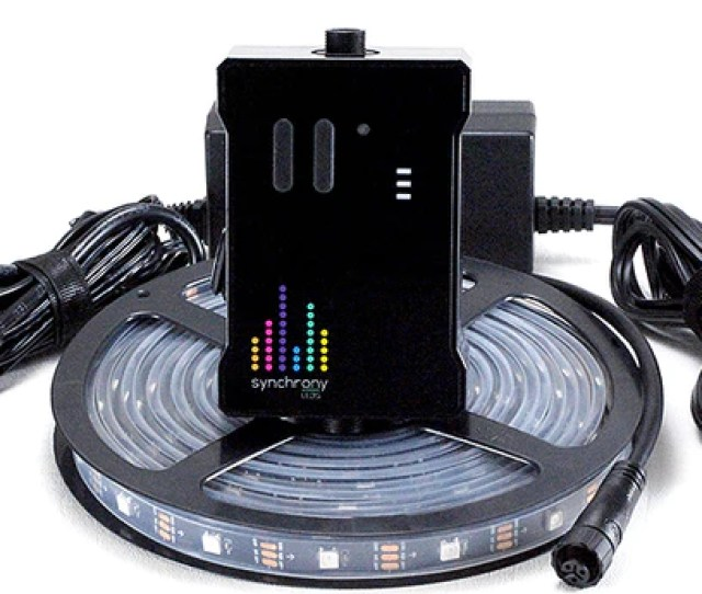 Synchrony Led Sound Reactive Music To Lights Controller Rgb Strip Starter Kit Black Pcb
