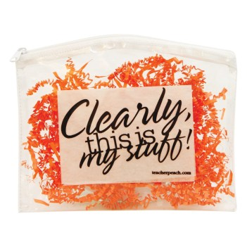The Clearly Cosmetic Tote Peachy Halloween Teacher Gift Prize