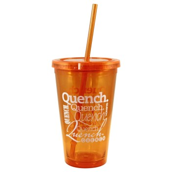 Quench Tumbler with Straw and Lid Peachy Halloween Teacher Gift Prize