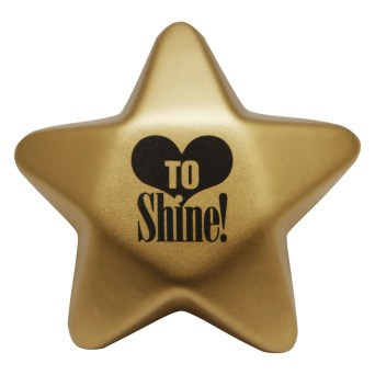 """Love to Shine"" Star-Shaped Stress Ball"