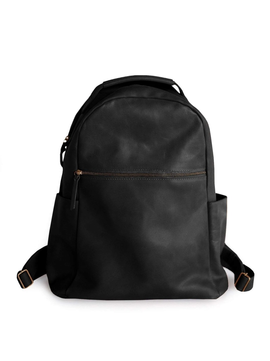 Black leather Mayte Backpack from ABLE fashion. 238 dollars.