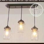 Mason Jar Chandelier Light Rectangular With Vintage Quarts The Lamp Goods