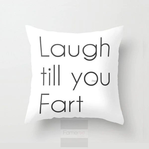 funny humorous throw pillow case funny fart pillow cover